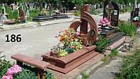 Ексклюзивний комплект пам'ятник з граніту лізник на кладовище