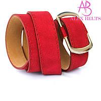 Ремень женский на шпеньке (красный) 30 ммRrZ-9169