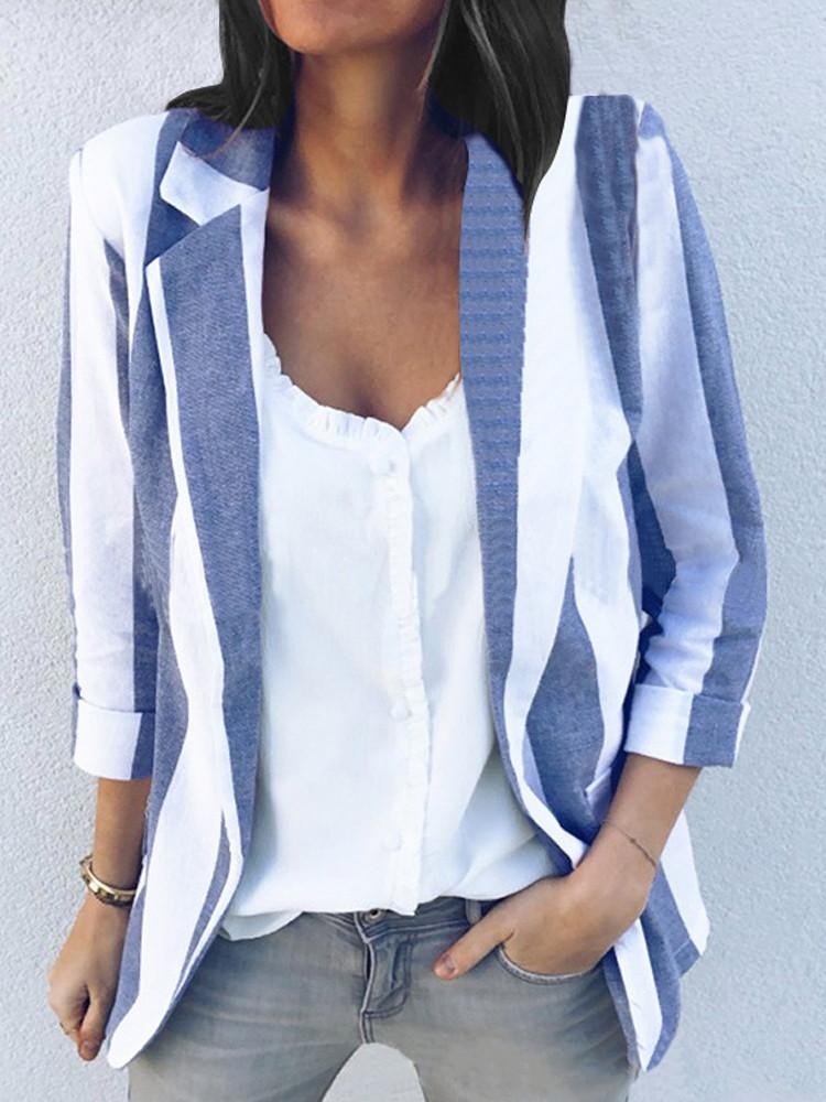 Женское Повседневная одежда с длинными рукавами Офисная верхняя одежда Блейзеры - 1TopShop