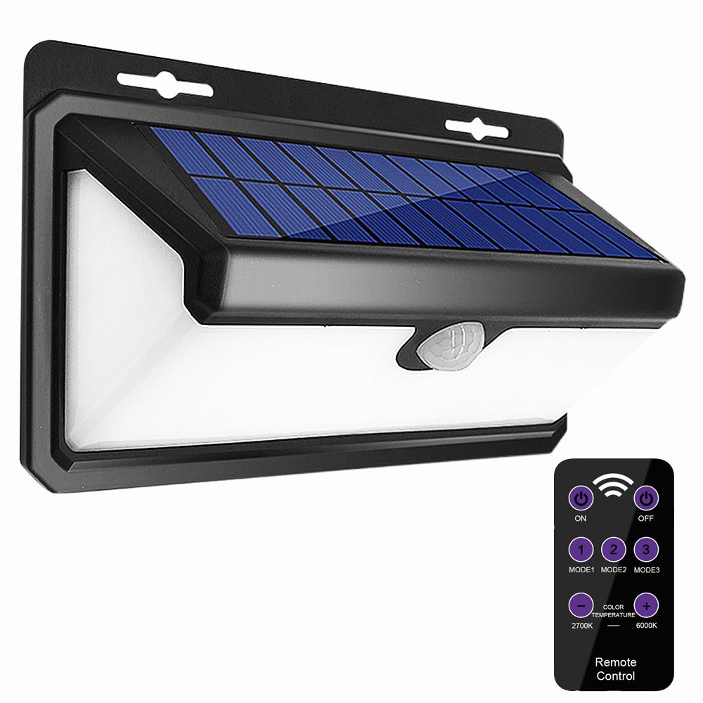 AUGIENB 800LM Солнечная Powered Лампа PIR Motion На открытом воздухе Yard Сад Light Дистанционное Управление - 1TopShop