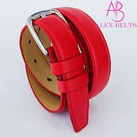 Ремень женский узкий на шпеньке (красный) 20 мм RrUZ-9060