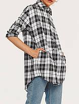 Женское Повседневная плед с длинными рукавами - 1TopShop, фото 2
