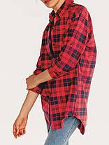 Женское Повседневная плед с длинными рукавами - 1TopShop, фото 3