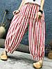 Женское Винтаж Эластичная верхняя талия полосатая Брюки - 1TopShop, фото 4