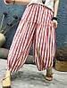 Женское Винтаж Эластичная верхняя талия полосатая Брюки - 1TopShop, фото 5