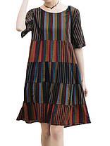 Женское Рубашка с коротким рукавом из хлопка Рубашка Платье - 1TopShop, фото 3