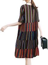 Женское Рубашка с коротким рукавом из хлопка Рубашка Платье - 1TopShop, фото 2