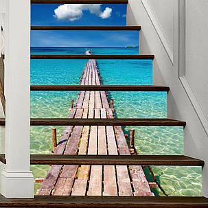 Miico6Pcs/наборТворческийПВХ Лестницы наклейки Главная Декор Mural Art Decor Наклейка - 1TopShop, фото 2