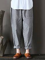 Женское Полоса эластичная талия Повседневный свободный гарем Брюки - 1TopShop, фото 2