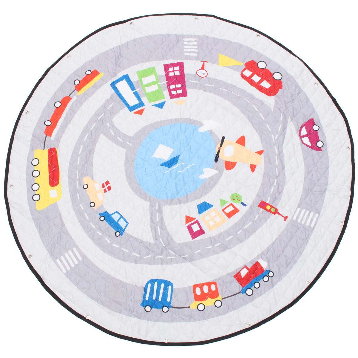 55 '' Soft Cotton Round Baby Kids Game Спортзал Play Crawling Blanket Toys Storage Сумка - 1TopShop