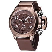 SKONE 4188 Мода Мужчины Водонепроницаемый Кварцевые часы Мужчины Luxury силиконовой лентой Многофункциональный Спортивные часы - 1TopShop, фото 2