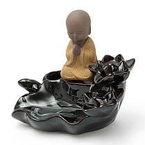 Lotus Лист Маленький монах Backflow Incense Burner Censer Holder Домашнее украшение Похудение Оборудование - 1TopShop, фото 3