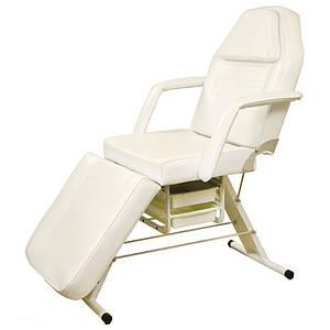 Косметологическая кушетка механическая с ящиками кресло-кушетка для косметолога 3-х секционная (806)