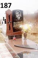 Елітний пам'ятник на кладвище із граніту лізник та жатківка закрите надмогилля