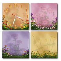 Часы модульные картина - Цветы (М 2), купить настенные часы