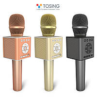 Караоке микрофон TOSING Q12 (TUXUN) Оригинал! / Беспроводной, Портативный, Bluetooth