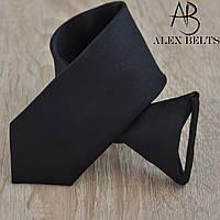 Краватка дитячий однотонний на кнопці (чорний) GDOK-9643
