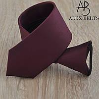 Краватка підлітковий однотонний на кнопці (темно-бордовий) GPOK-9649