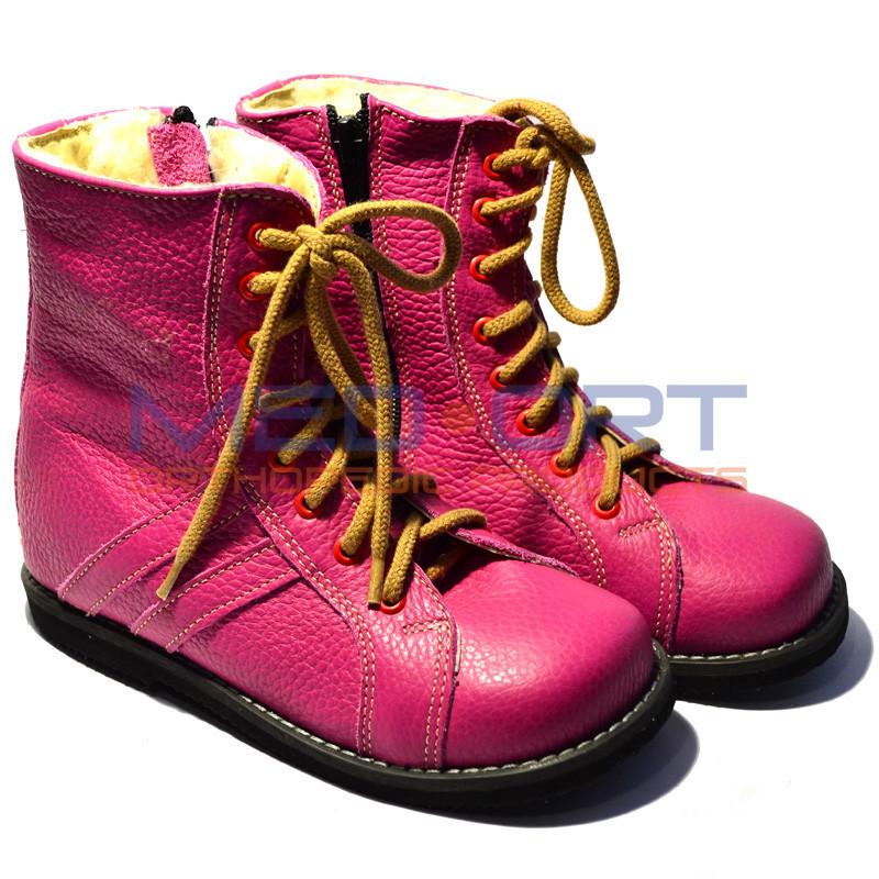 Зимние детские ортопедические ботинки, розовые Wik 13-10