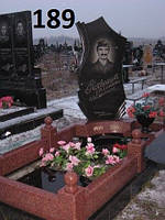 Ексклюзивний памятник з огорожею із червоного граніту на кладовище
