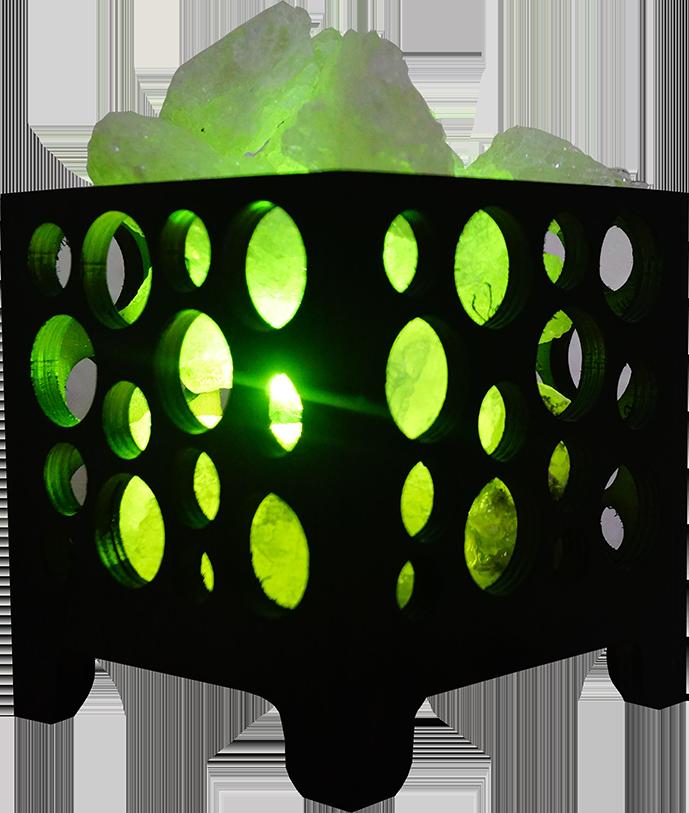 Соляная лампа Корзина № 2,  1,5кг, (12*12*13 см)