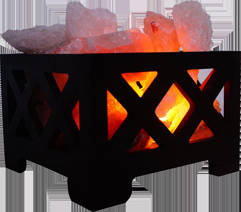 Соляная лампа Корзина № 9, 4 кг, (18*18*13 см)