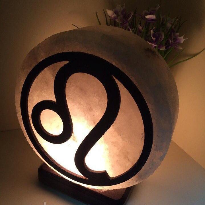 Соляная лампа Лев, 3-4 кг, (16*16*7см)