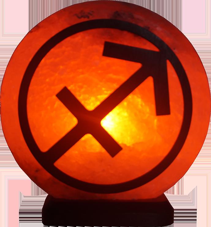 Соляная лампа Стрелец, 3-4 кг; ( 16*16*7см)