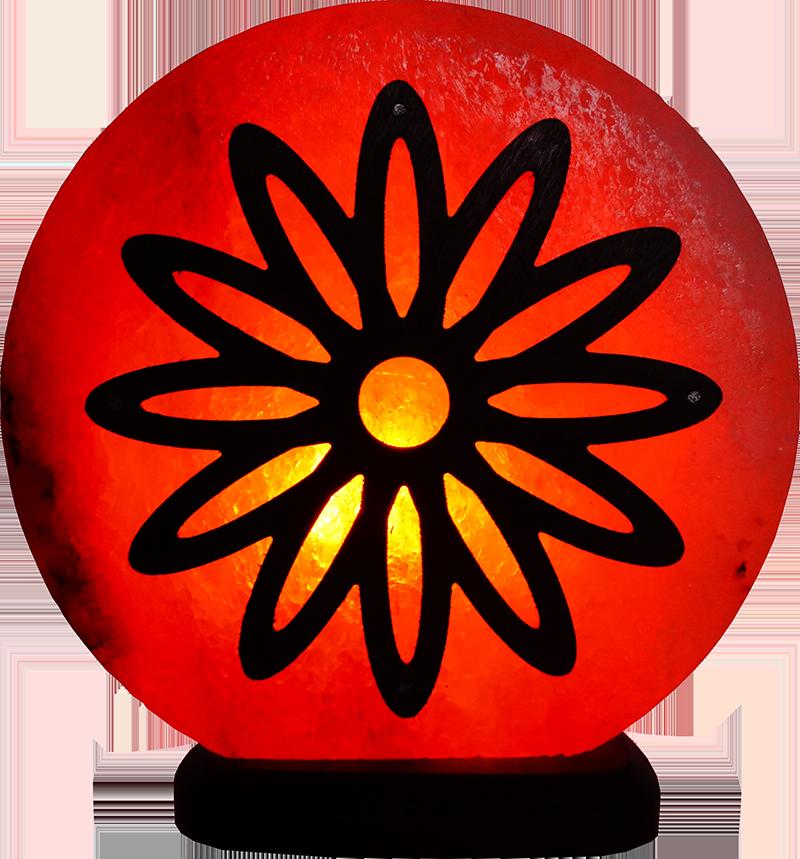 Соляная лампа Цветок, 3-4 кг, (16*16*7 см)