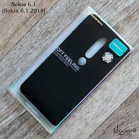Оригинальный силиконовый чехол Mercury Goospery для Nokia 6.1 (Nokia 6 2018) (черный), фото 1