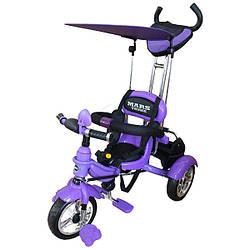 Трехколесный велосипед на надувных колесах Mars Trike Фиолетовый KR01