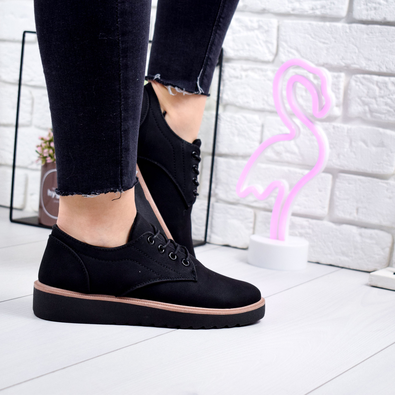 Туфли женские Stella черные 7204