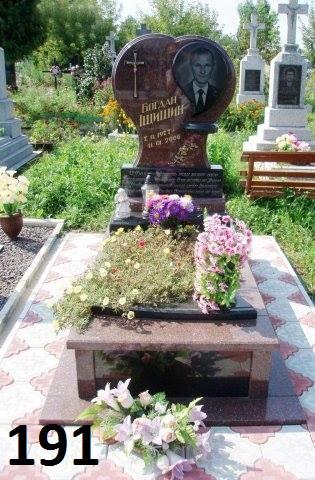 Ексклюзивний гранітний пам'ятник на кладовище у вигляді серця