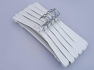 Плічка вішалки тремпеля Гем-4 білого кольору, довжина 42,5 см, в упаковці 10 штук