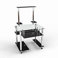 Стеклянный компьютерный стол Феникс-1