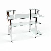 Стеклянный компьютерный стол Юнона
