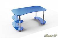 Стеклянный компьютерный стол С-3