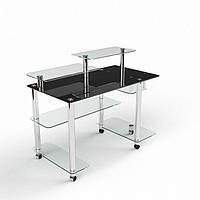 Стеклянный компьютерный стол Альфа
