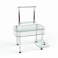 Стеклянный компьютерный стол Ирида