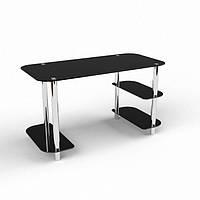 Стеклянный компьютерный стол Крослайн
