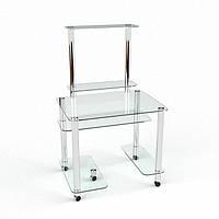 Стеклянный компьютерный стол Люкс