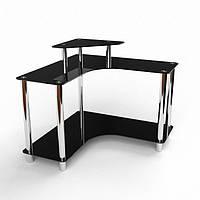 Стеклянный компьютерный стол Марко