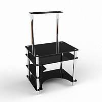 Стеклянный компьютерный стол Мираж