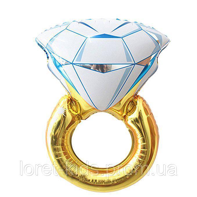 Фольгированный шар Кольцо с бриллиантом 82х54 см