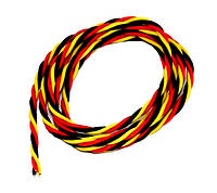 Сервопровод DYS 22 AWG скрученный (Hitec), 1 метр