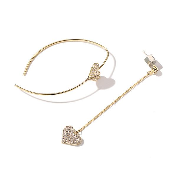Нежное ослепительное асимметричное Сердце Серьги с серебристым серебром Серьги на Женское - 1TopShop