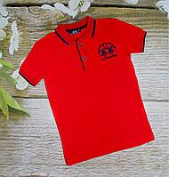 Футболка Поло красная 4-12 лет  5-6 лет (004198)