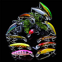 ZANLUREDW45712pcs/set8cm 11g Crank Popper Lure Рыбалка Lure Hard Bait Lake Crankbaits - 1TopShop, фото 3