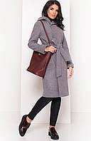 Зимнее женское пальто с капюшоном «Энни» (Серый, синий | S, L)
