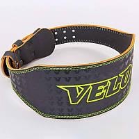 Пояс атлетический кожаный VELO VL-8180